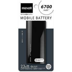 マクセル モバイルバッテリー ブラック [6700mAh /1ポート /microUSB /充電タイプ] MPCC6700PBK