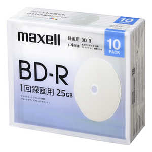 マクセル 録画用ブルーレイディスクBD-R 10枚パック BRV25WPE.10SBC