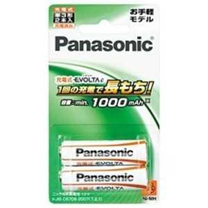 パナソニック Panasonic 充電式エボルタ「単3形」2本パック(お手軽モデル) BK3LLB2B