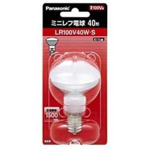 パナソニック Panasonic 電球 ミニレフ電球 ホワイト[E17/1個/レフランプ形] LR100V40WS