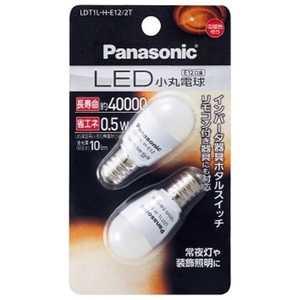 パナソニック Panasonic LED小丸電球 ホワイト [E12/電球色/2個] E12/L/装飾 LDT1LHE122T