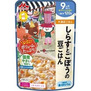 森永乳業 大満足ごはん しらすとごぼうの豆ごはん 120g シラストゴボウノマメゴハン