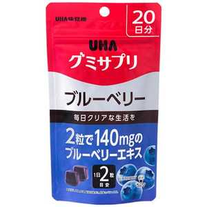 UHA味覚糖 グミサプリ ブルーベリー 20日分 ブルB20日 グミサプリブルーベリー20ニチフ