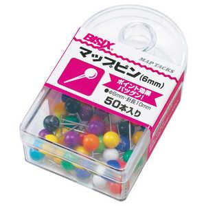 ミツヤ マップピン#6 10色込50本 BX18AS