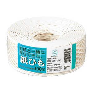 マルアイ 紙ひもNO 10ホワイト 10W
