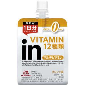 森永製菓 inゼリー ビタミンカロリーゼロ【オレンジ風味/180g】 1P 36JMM84100