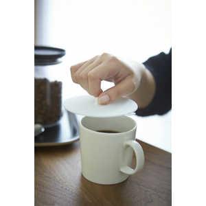 山崎実業 カップカバー アクア(Silicone Cup Cover AQUA) ホワイト ホワイト 02877