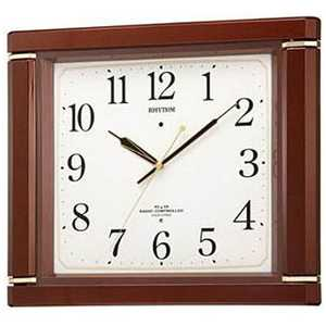 リズム時計 RHYTHM 電波掛け時計「ネムリーナM494R」 茶 4MN494RH06