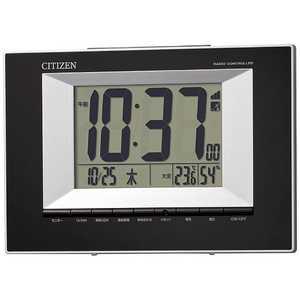 リズム時計 CITIZEN 掛け置き兼用電波目覚まし時計 黒 8RZ181002
