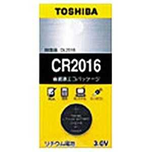 東芝 TOSHIBA コイン型電池 [1本 /リチウム] ドットコム専用 CR2016EC