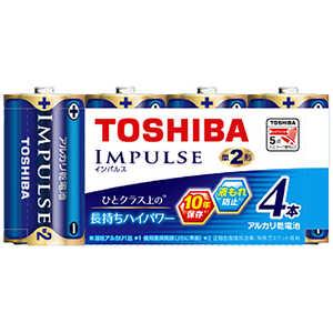 インパルス アルカリ乾電池 単2形 4本パック LR14H 4MP 製品画像