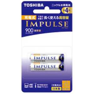 東芝 TOSHIBA 「ニッケル水素電池単4形」高容量タイプ 2本 TNH4AH2P