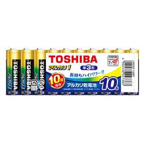 東芝 TOSHIBA 【単三形】10本 アルカリ乾電池「アルカリ1」 A10単3 LR6AN10MP