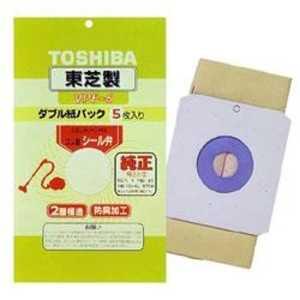 東芝 TOSHIBA 掃除機用紙パック (5枚入) 防臭加工 シール弁付きダブル紙パック VPF6
