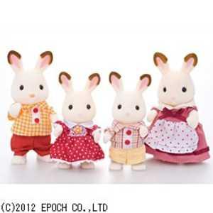 エポック社 EPOCH シルバニアファミリー ニンギョウ FS16ショコラウサギファミリー