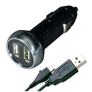 カシムラ 車載用-1.3A micro USBケーブル AJ-480 [2ポート] AJ480