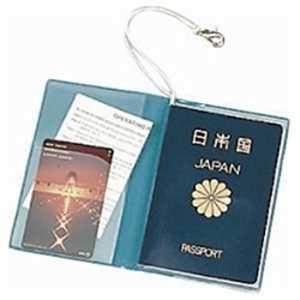 JTB SWT パスポートカバー クリア 青 パスポートカバークリア
