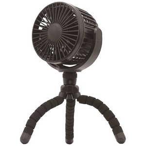 トップランド 小型扇風機 どこでもFAN ホーム&アウトドア ブラック SFDF20BK