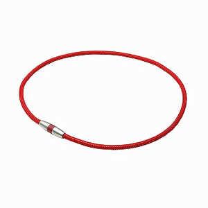 ファイテン RAKUWA磁気チタンネックレス(ボルドー×メタリックレッド/45cm) 0217TG743152