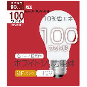 マクサー電機 マクサー 白熱電球 シリカ電球 E26口金 100W形(90W) 60mm径 2個入] MXLW100V90W2P