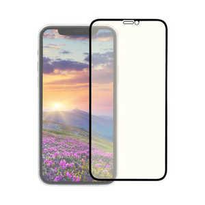 OWLTECH iPhone 11 Pro 5.8インチ 画面保護ガラス 全面保護 貼付けキット付き 3次強化ガラス 0.33mm厚 GLASSフレーム クリア&ブルーライトカット BKクリアBLC OWLGUIB58FBBC