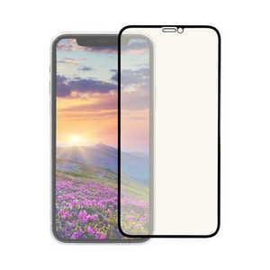 OWLTECH iPhone 11 Pro 5.8インチ 画面保護ガラス 全面保護 貼付けキット付き 3次強化ガラス 0.33mm厚 GLASSフレーム マット&ブルーライトカット BKマットBLC OWLGUIB58FBAB