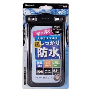 OWLTECH スマートフォン用[幅 81mm/5.5インチ] 防塵防水ケース IP68規格 ブラック ブラック OWLWPCSP10BK