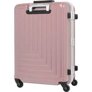 TRAVELEARTH スーツケース ストッパー付ハードキャリー 90L ローズ [TSAロック搭載] H090RO TE079167RO