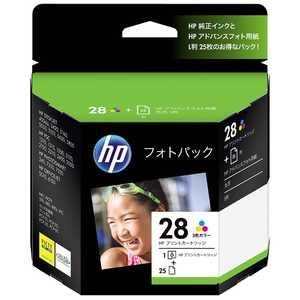 「純正」HP28 フォトパック(L版・3色) CR714AJ