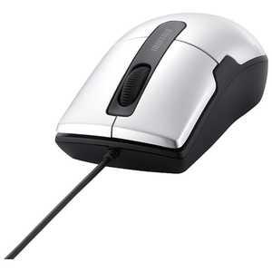 BUFFALO 有線BlueLEDマウス 静音/3ボタン/Mサイズ シルバー シルバー BSMBU26SMSV