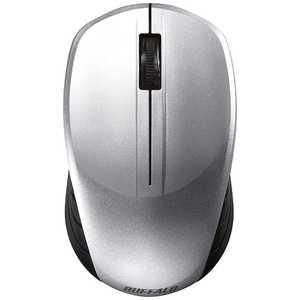 BUFFALO ワイヤレスBlueLEDマウス BSMBW108シリーズ(3ボタン・シルバー) シルバー BSMBW108SV