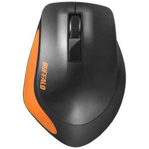 BUFFALO Premium Fitマウス 無線/BlueLED光学式/静音/3ボタン/Mサイズ オレンジ BSMBW300MOR