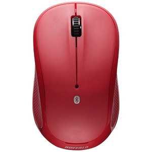 BUFFALO 無線マウス Bluetooth IR LED レッド BSMRB058RD