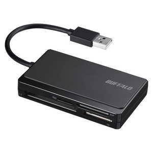 BUFFALO USB2.0 マルチカードリーダー ケーブル収納モデル ブラック ブラック BSCR308U2BK