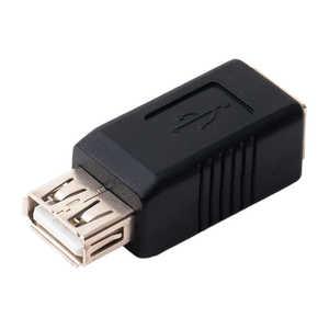 ミヨシ USB2.0 USB B、USB A変換アダプタ ブラック USABA