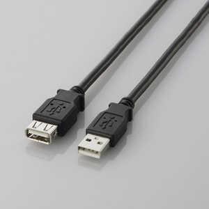 エレコム ELECOM USB2.0延長ケーブル(A-A延長タイプ) 「ブラック」「2m」 ブラック U2CE20BK