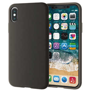 エレコム ELECOM iPhone XS 5.8インチ用 シリコンケース ブラック PMA18BSCBK