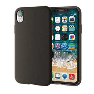 エレコム ELECOM iPhone XR 6.1インチ用 シリコンケース ブラック PMA18CSCBK