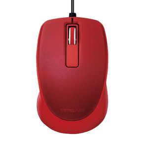 エレコム ELECOM BlueLEDマウス/TIPS AIR/有線/3ボタン/レッド レッド MTP10UBXRD