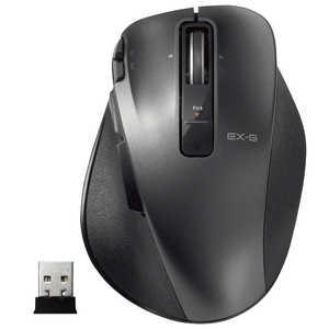 エレコム ELECOM ワイヤレスレーザーマウス M-XGM20DLシリーズ Mサイズ(8ボタン) ブラック MXGM20DLBK