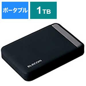 エレコム ELECOM 外付けHDD ブラック [ポータブル型 /1TB] 法人専用 ELPEEN010UBK
