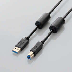 エレコム ELECOM 1.0m USB3.0ケーブル 「A」⇔「B」 ブラック USB3BF10BK