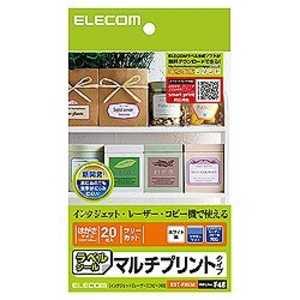 エレコム ELECOM フリーカットラベル(はがきサイズ・20枚) EDTFHKM