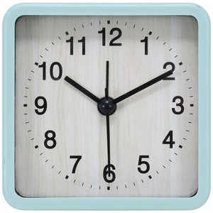 不二貿易 置き時計 スクエア ウィル ブルー ブルー 99073