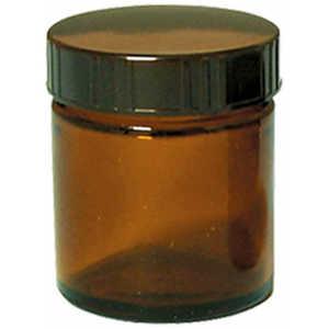 生活の木 茶色ガラス クリーム容器 50ml 136649020