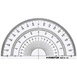 ステッドラー ステッドラー 半円分度器 12cm 9685112