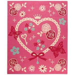 イケヒコ ラグ キャリーII 平織(110×133cm/ピンク) 約110×133 4720329