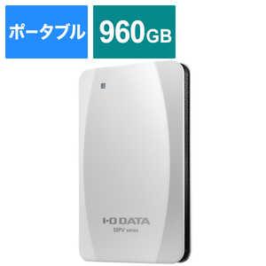 IOデータ PS5対応 ポータブルSSD 960GB 【PS4、PS5動作確認済】 ホワイト ホワイト SSPVUSC960W