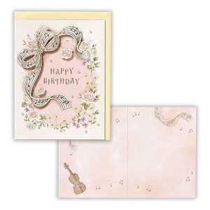 ニホンホールマーク [グリーディングカード] バイオリンソナタ 誕生お祝いカード EAP508494