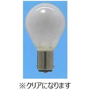 旭光電機工業 ミニランプ クリアタイプ [B15d /一般電球形] S35B15D110V25WC